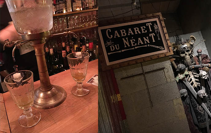 paris gothic cabaret, absinthe bars cantada ii