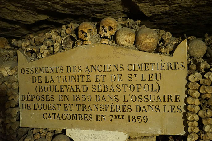 paris ossuary haunted scary goth catacomb