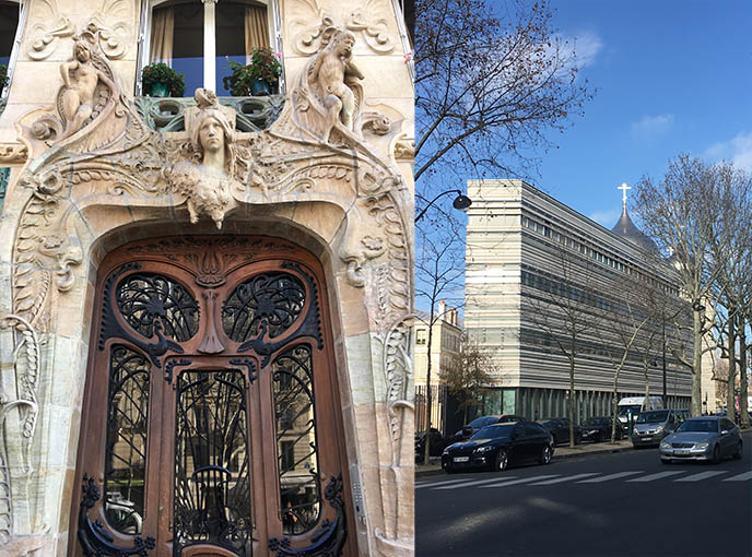 paris art nouveau door 29 ave rapp