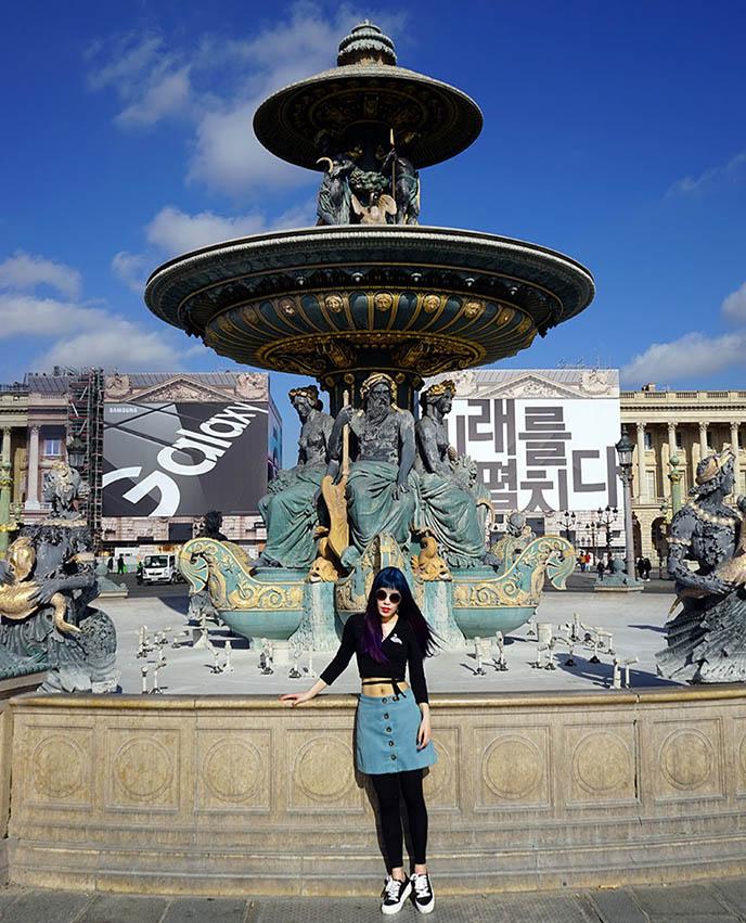 fountain Place de la Concorde, Fontaine des Mers