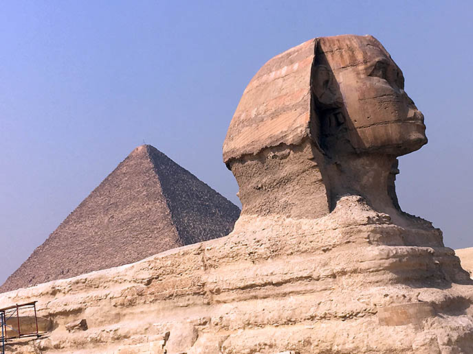 great sphinx profile nose