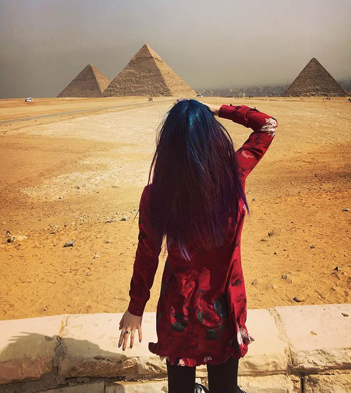 egypt instagram travel blogger girl