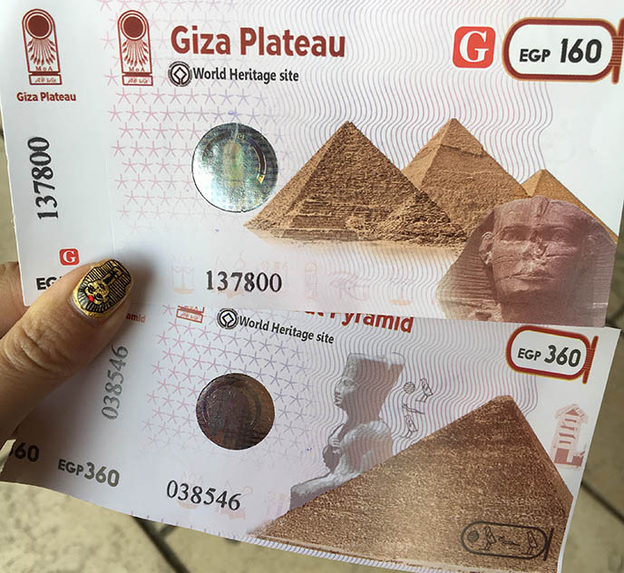 pyramids giza tickets entry fee