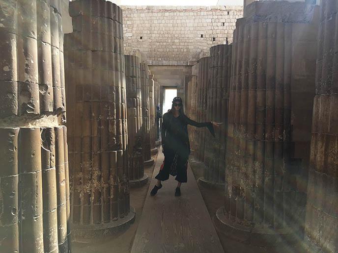 saqqara temple colonnades pillars