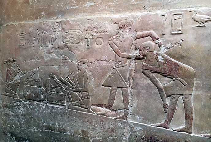 Imhotep first egyptian doctor carvings physician