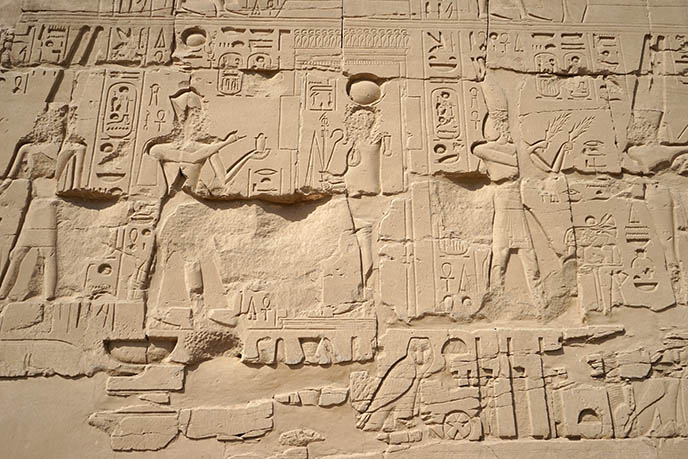 ancient egypt hieroglyphic art luxor karnak