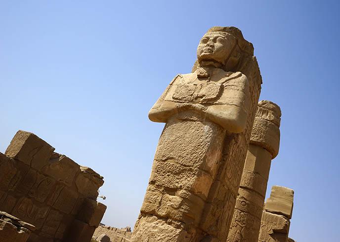 egyptian gods goddesses statues luxor