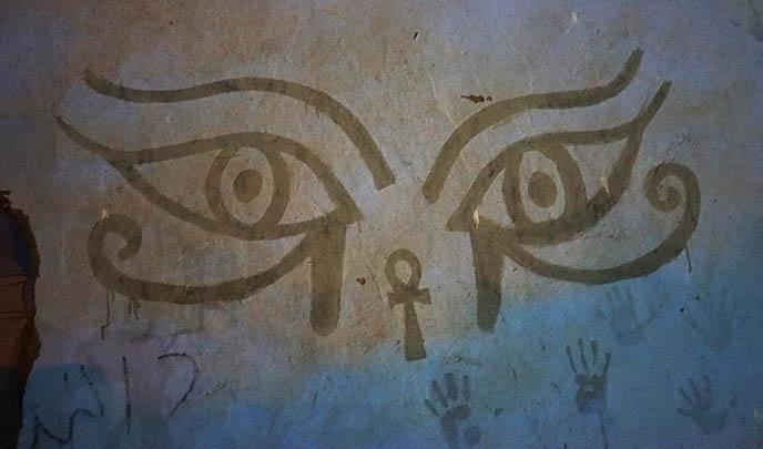 ankh kohl eyes mural