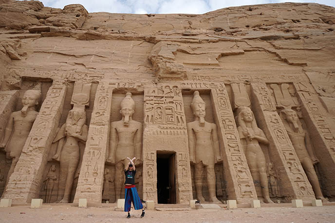 Temple of Hathor goddess abu simbel