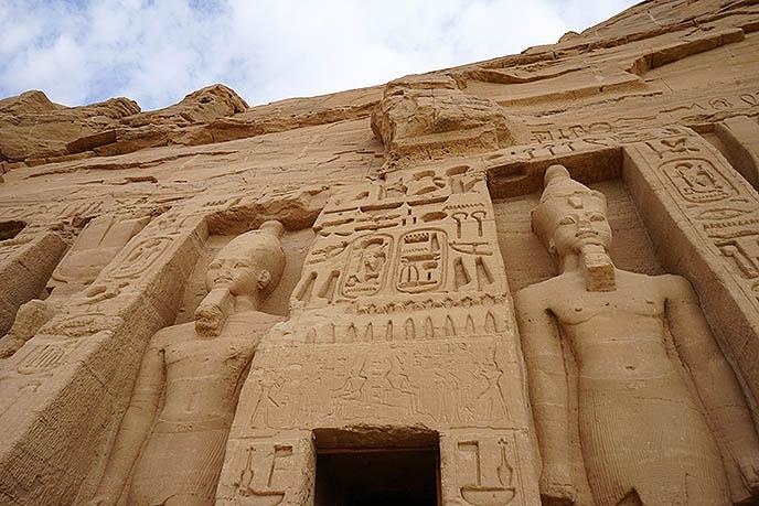 abu simbel temples carvings statues