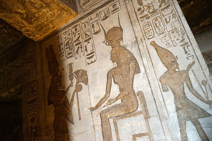 egyptian royal queen carvings art