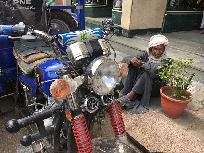 egyptian man motorcycle