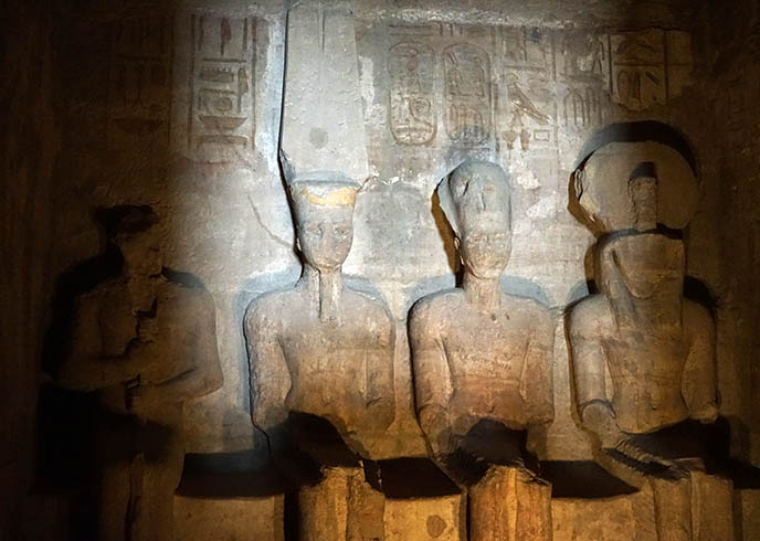 haunted egyptian temple inner shrine abu simbel