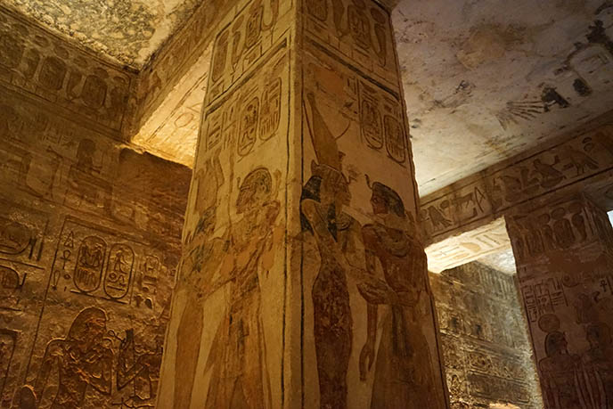 temple hathor egypt paintings