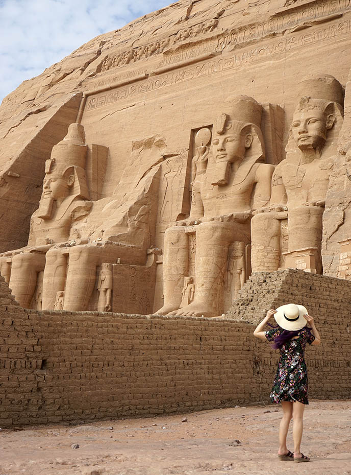abu simbel carved mountain temple archaeology