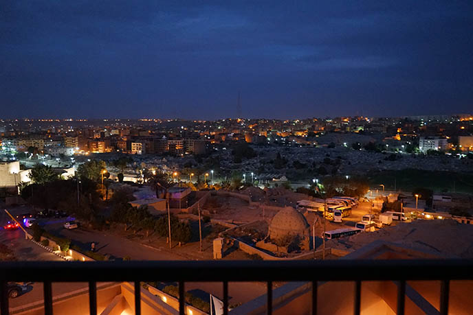 view aswan city night