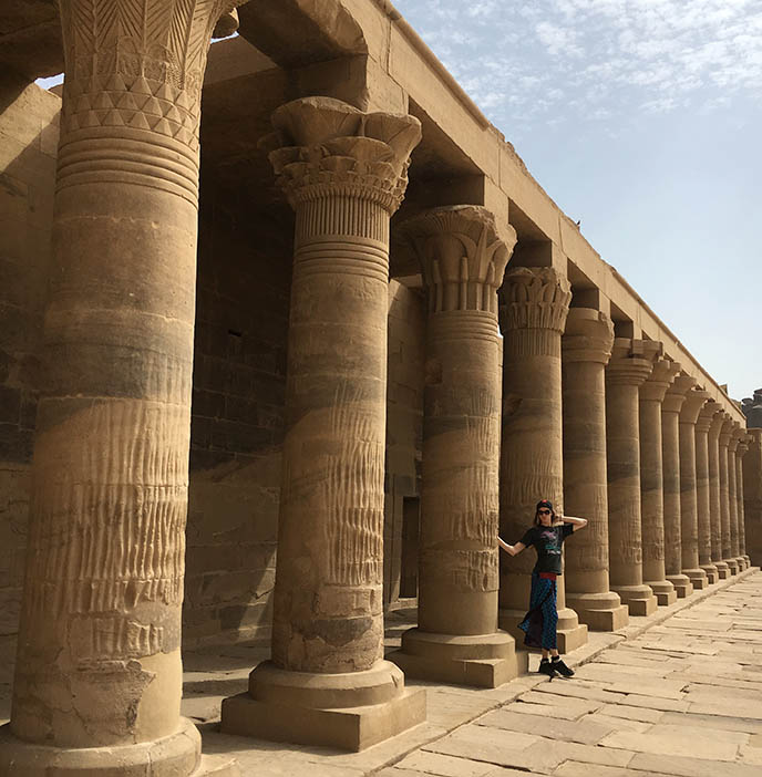 temple of philae pillars complex