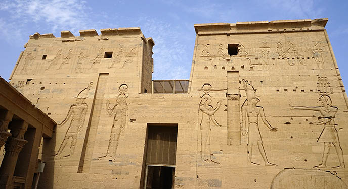 philae temple pylon entryway entrance