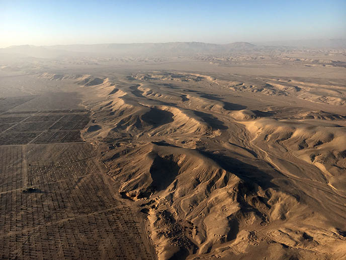 view egypt desert from hot air balloon