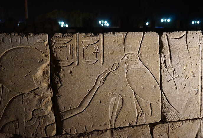 eating ankh ancient egypt carving