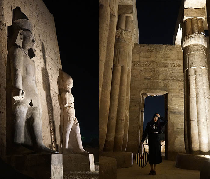 luxor temple at night tur