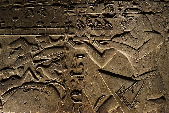 luxor temple carvings offerings supplicant