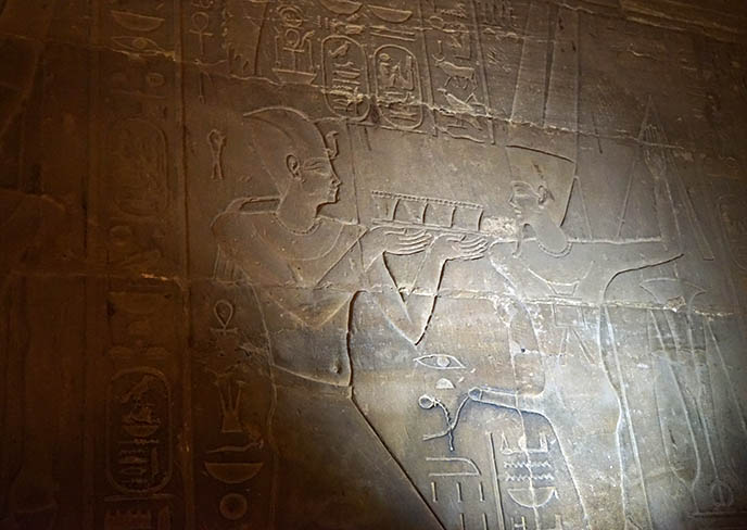 luxor temple carving sperm semen