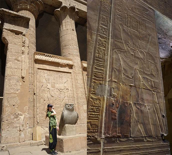 horus statue edfu temple
