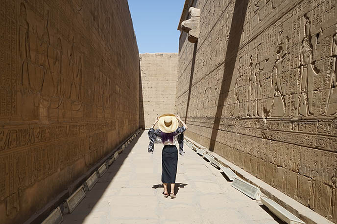courtyard temple edfu egypt