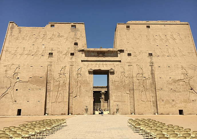 edfu temple entrance pylon