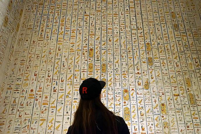 rainbow egypt writing hieroglyphs
