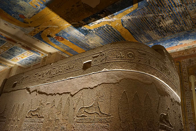 ancient egypt sarcophagus jackal