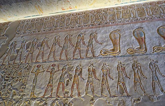 anubis jackal egyptian tomb art