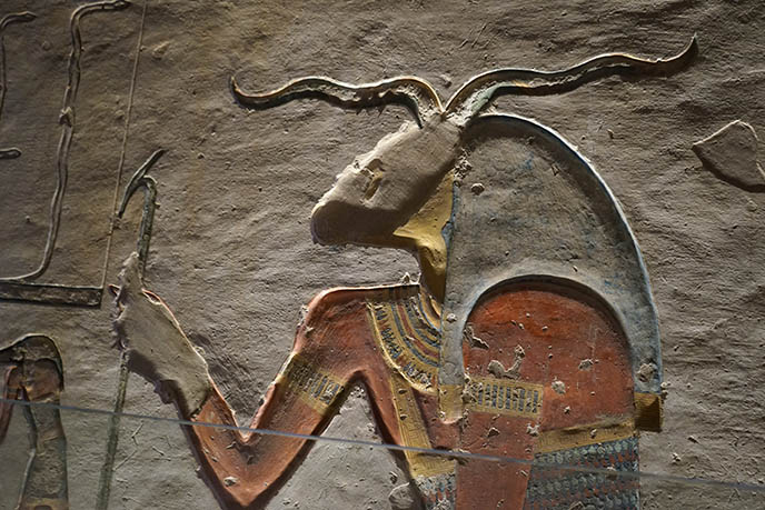 Khnum horned egypt god