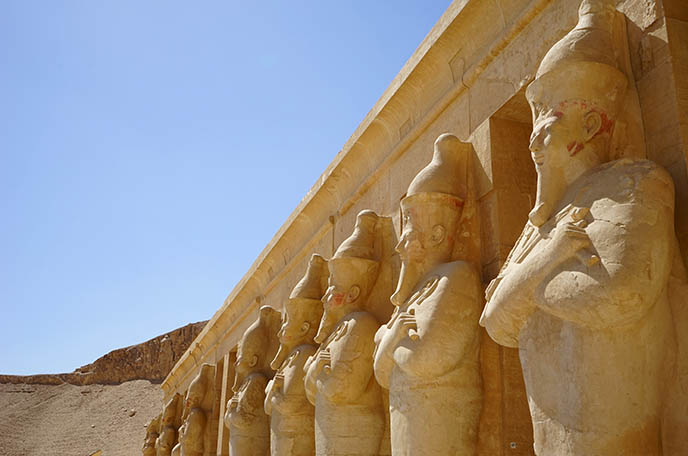 figures of queen hatshepsut bearded