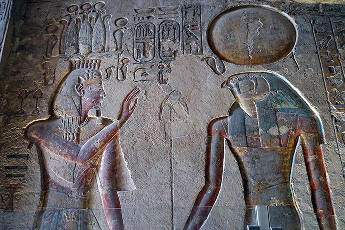 colorful paintings ancient egypt pharoah tombs