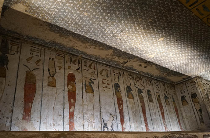 valley of kings paintings tombs