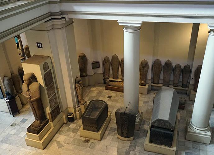 cairo egypt sarcophagus mummy coffins
