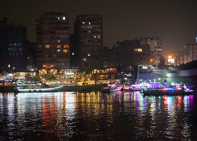 night time cairo river cruises