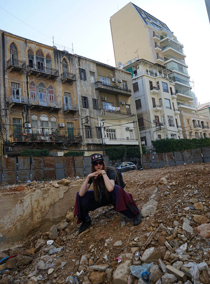 beirut street style gritty buildings