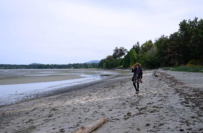 parksville beach low tide