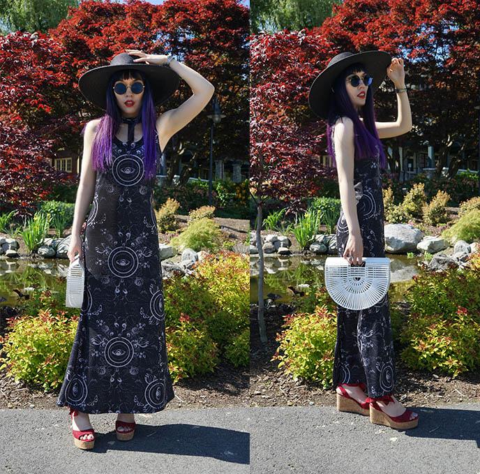 half moon ark bamboo bag, half circle purse