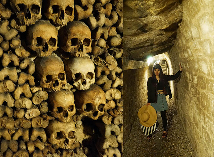 visit catacombs paris tunnels