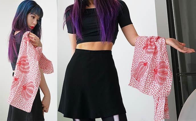 yayoi kusama pumpkin print scarf cloth fabric