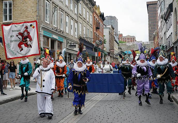 belgian carnival parade old quebec