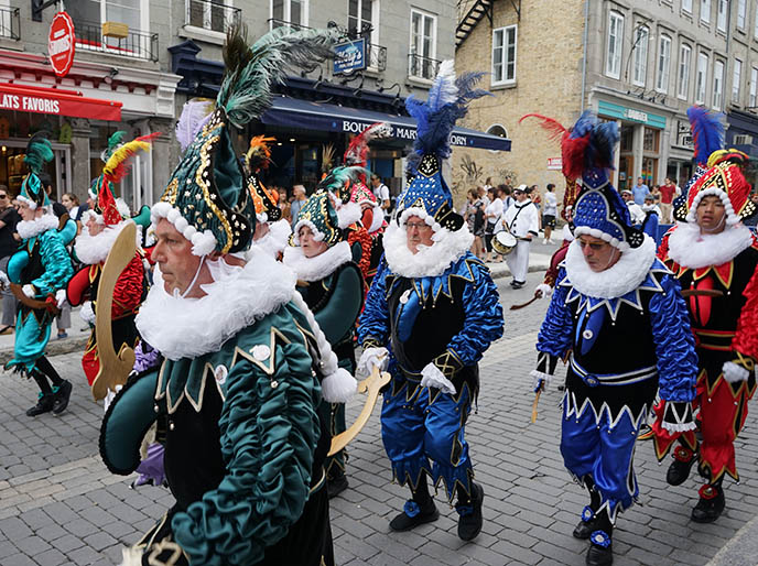 belgian carnival costumes, quebec city parades
