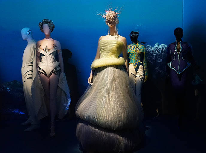 thierry mugler futuristic strange gowns