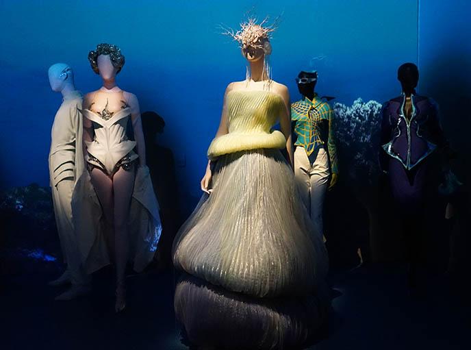 thierry mugler futuristic strange gowns