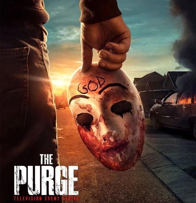 the purge season 2 poster god mask usa network