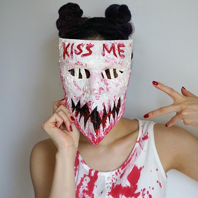 the purge kiss me mask, kimmy candy girl halloween costume